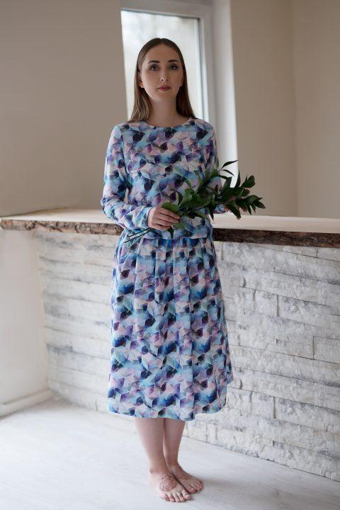 """Midi ilgio suknelė ,,Mozaika"""""""