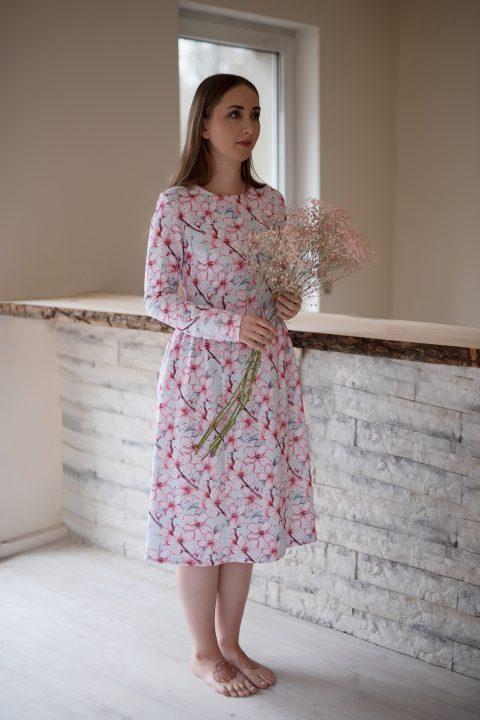 "Midi ilgio suknelė ,,Sakuros"""