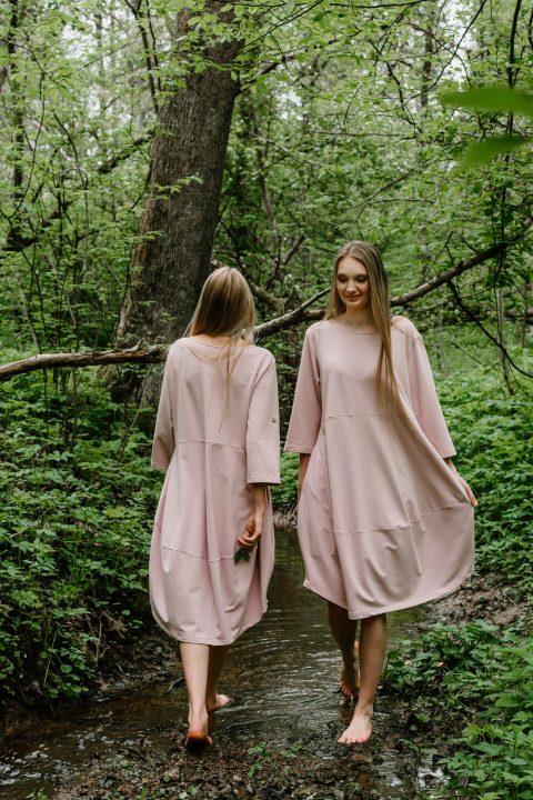 """Oversized suknelė ,,Rausva"""""""